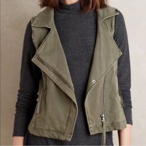 Anthropologie Marrakech army green vest size L